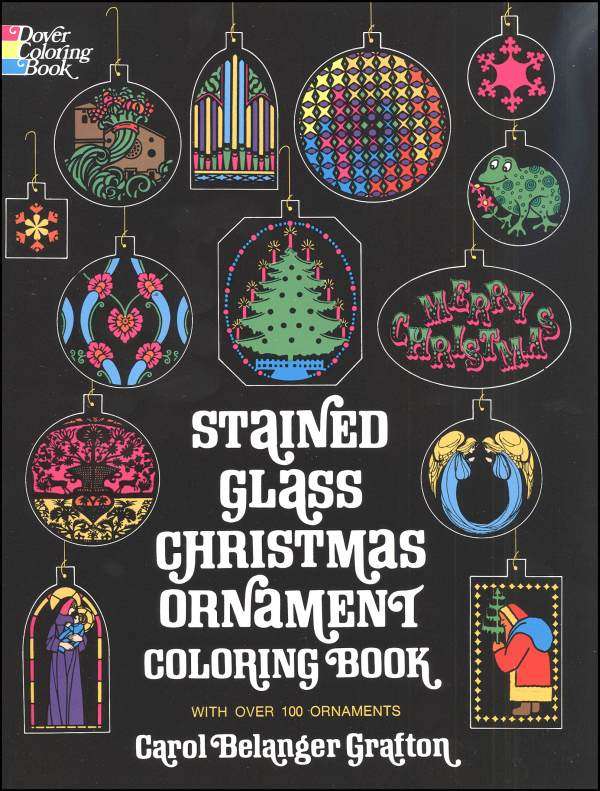 Christmas Ornaments Stained Glass Coloring Bk