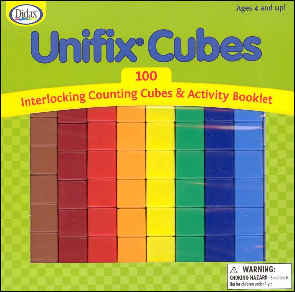 Unifix Cubes, 100 (10 each of 10 colors) with Activity Booklet