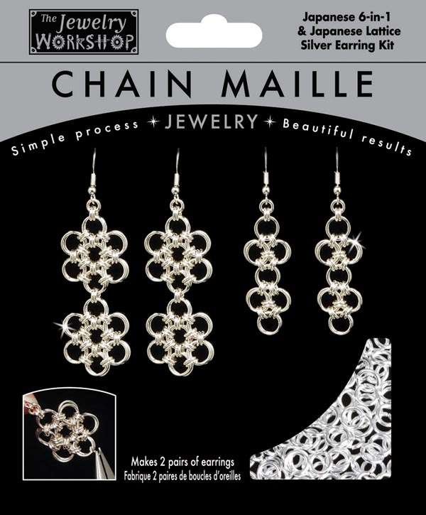 Japanese 6-in-1 Earrings Kit (Chain Maille Wk
