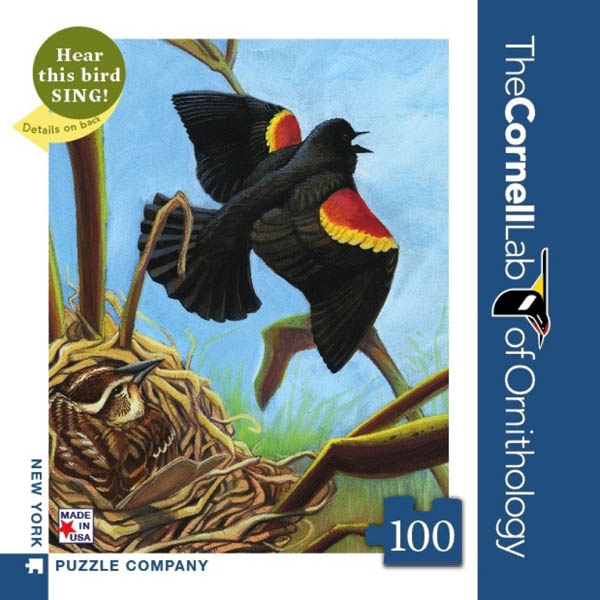 Red-Winged Blackbird - 100 piece Mini Puzzle (Cornell Birds)