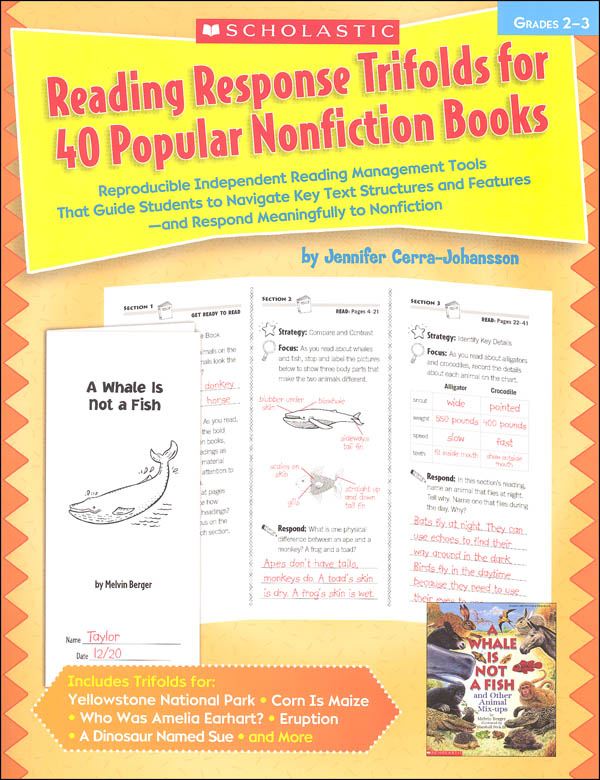 Reading Response Trifolds for 40 Popular Nonfiction Books (Grades 2-3)