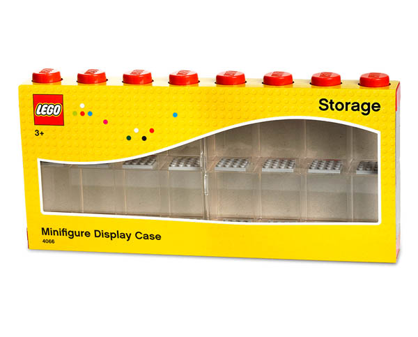 LEGO Minifigure Display Case Bright Red (For 16 Minifigures)
