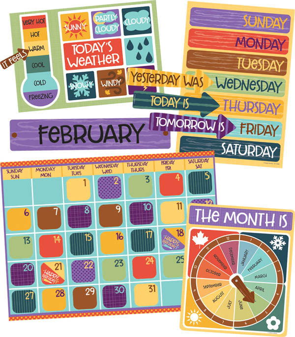 Nature Explorers Calendar Bulletin Board Set
