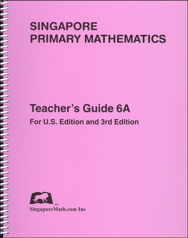 Primary Math US 6A Teacher Guide