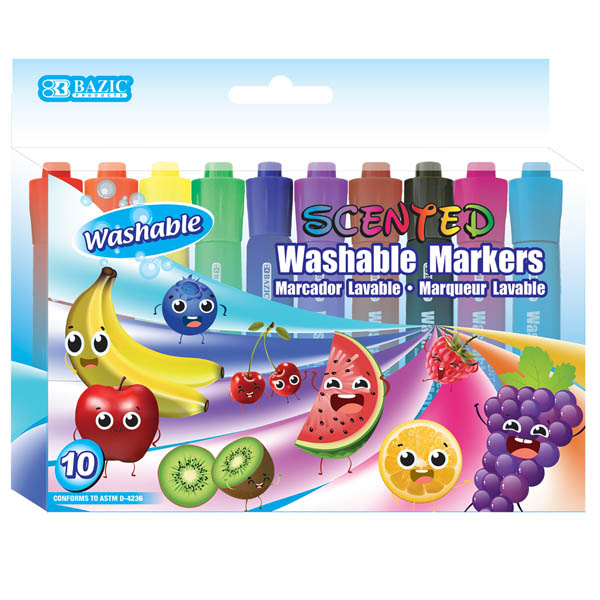 Washable Scented Markers 10 Color