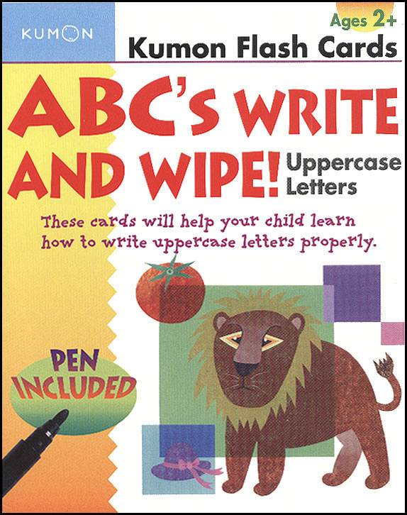 ABC's Uppercase Write and Wipe Flash Cards