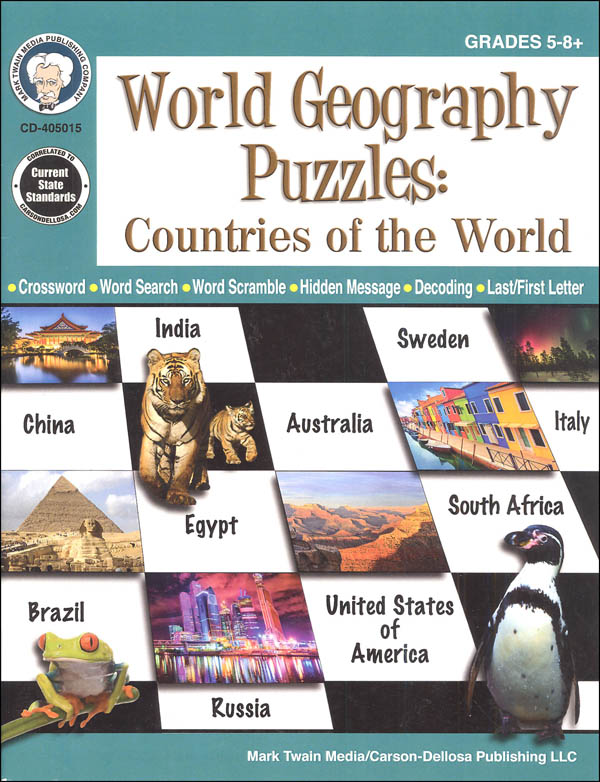 World Geography Puzzles: Countries of the World