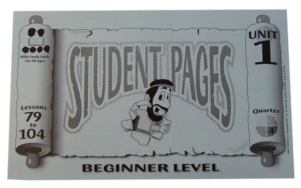Beginner Student Pages for Lessons 079-104