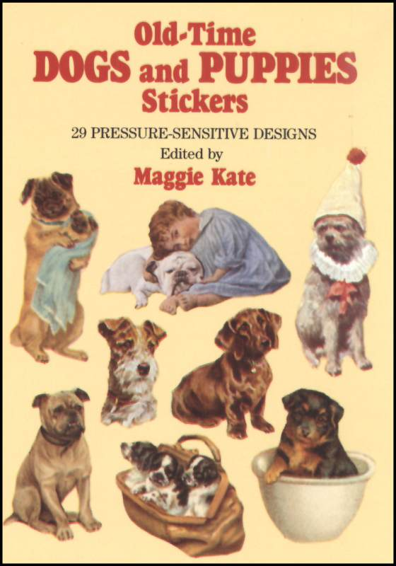 Old Time Dogs & Puppies Small Format Stickers