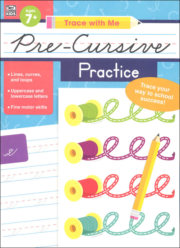Pre-Cursive Practice Activity Book (Trace with Me)