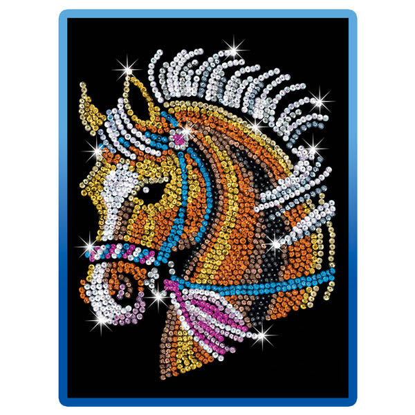 Sequin Art Blue Horse