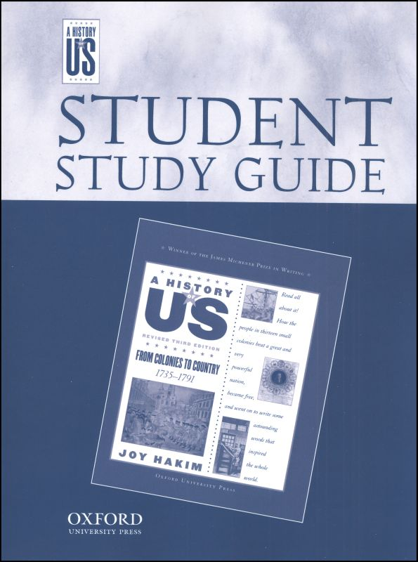 From Colonies to Country Student Study Guide (History of US Book 3)