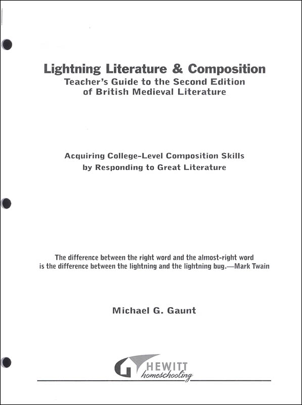 Lightning Literature & Composition British Medieval Literature Teacher Guide