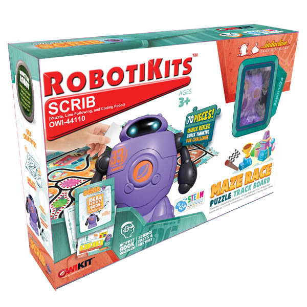 Scrib - Puzzle, Line Following, and Coding Robot