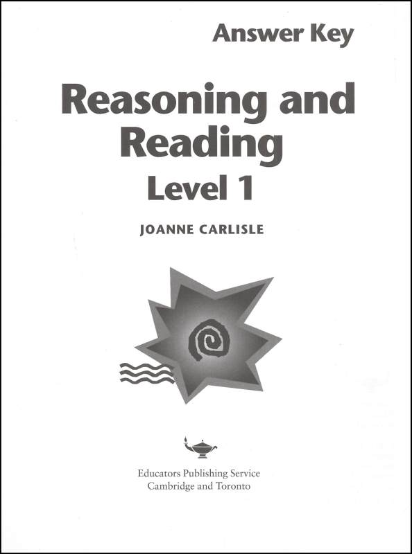 Reasoning & Reading Level 1 Teacher Guide