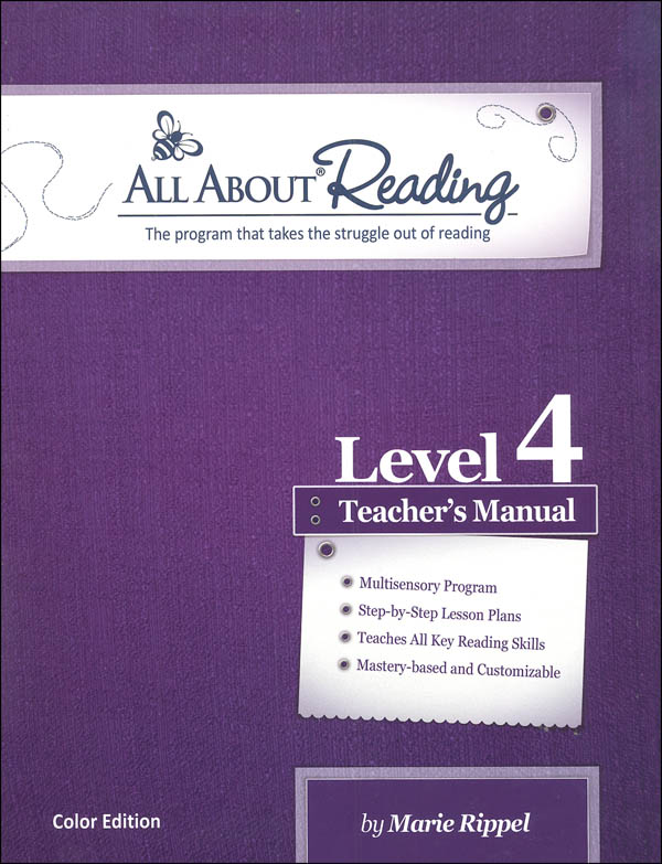 All About Reading Lvl 4 Tchr Manual (Color Ed