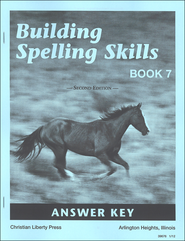 Building Spelling Skills 7 Answer Key 2ED