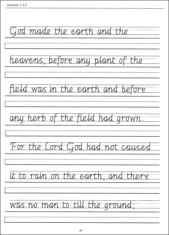 Scripture Character Writing Worksheets Getty Dubay Italic ...