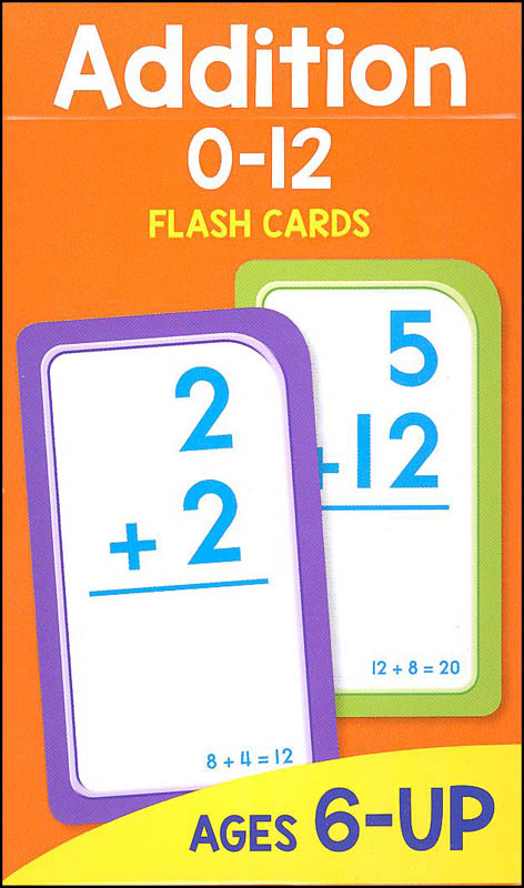 Addition Flash Cards 0-12