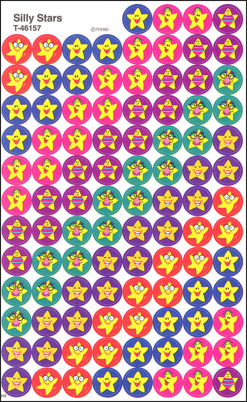 All About Reading Level 1 Smiling Star Stickers