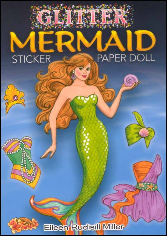 Glitter Mermaid Sticker Paper Doll