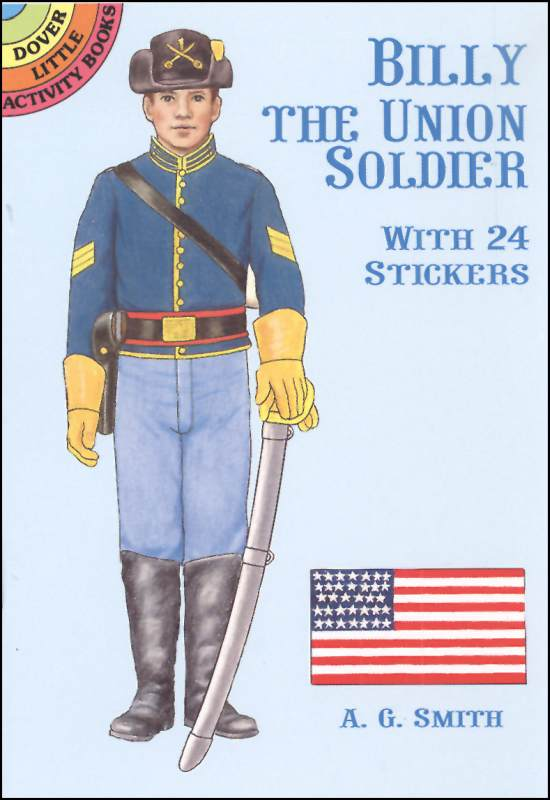 Billy the Union Soldier Sticker Paper Doll