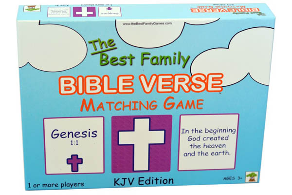Best Family Bible Verse Matching Game: King James Edition