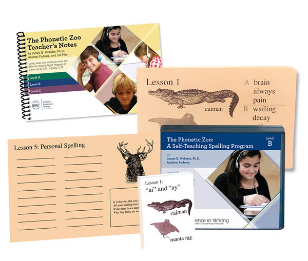 Excellence in Spelling Phonetic Zoo Level B Complete Set