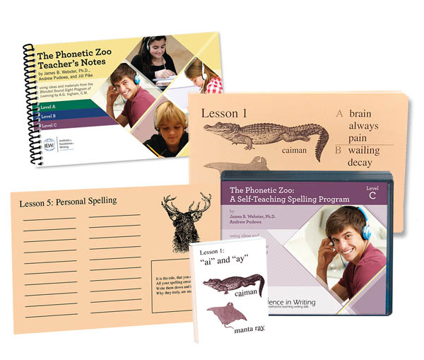 Excellence in Spelling Phonetic Zoo Level C Complete Set