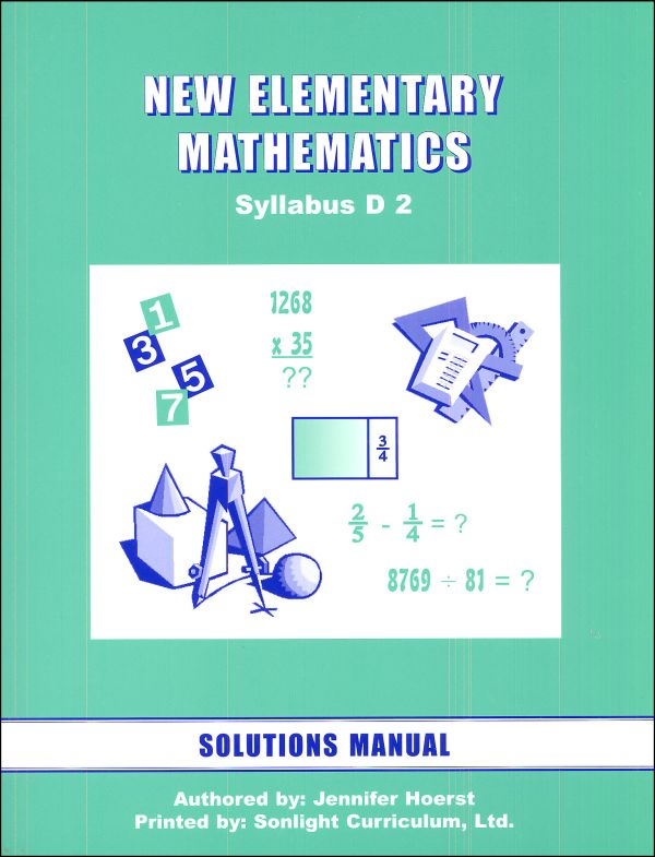 New Elementary Math 2 Solution Manual