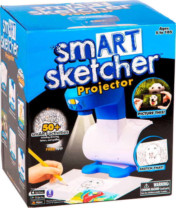 smART Sketcher Projector, AC Adapter, & SD Card
