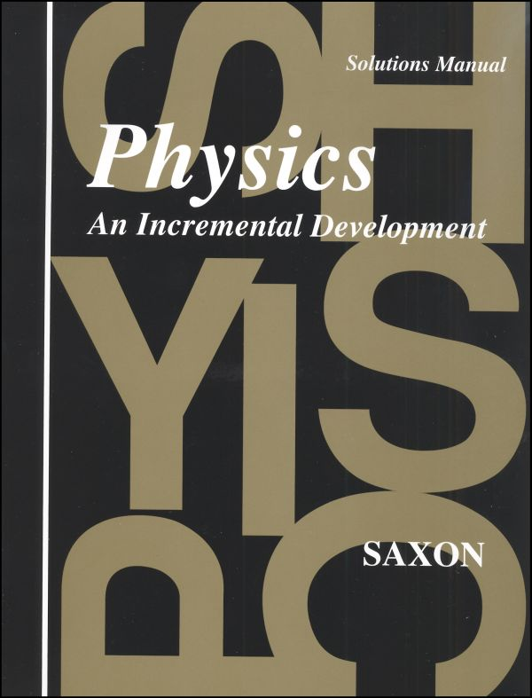 Saxon Physics Solution Manual