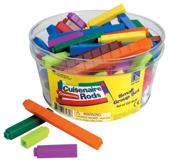Connecting Cuisenaire Rods Small Group Set - 155 Plastic Rods