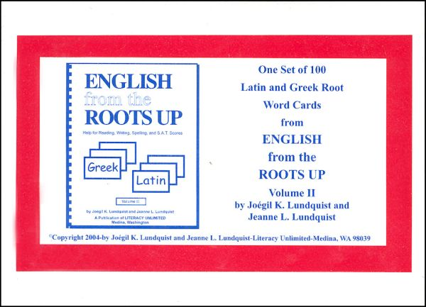 English from the Roots Up Word Cards Vol. 2
