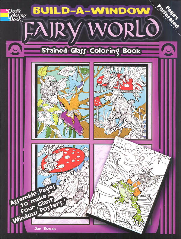 Fairy World Build a Window Stained Glass Coloring Book