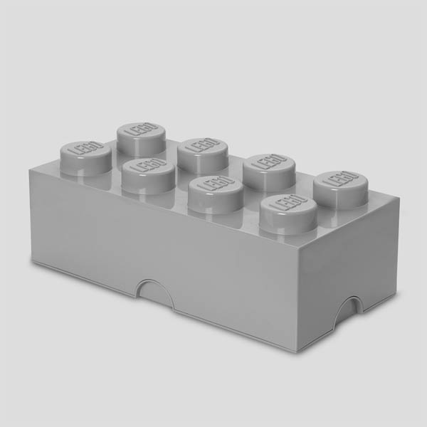 LEGO Storage Brick 8 - Medium Stone Gray