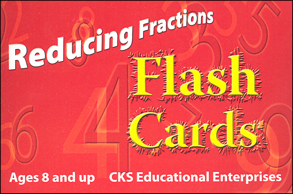 Reducing Fractions Flash Cards