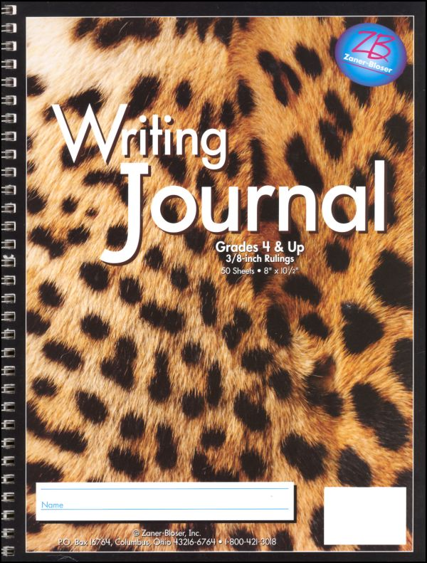 Writing Journal - Leopard - Grades 4-Up