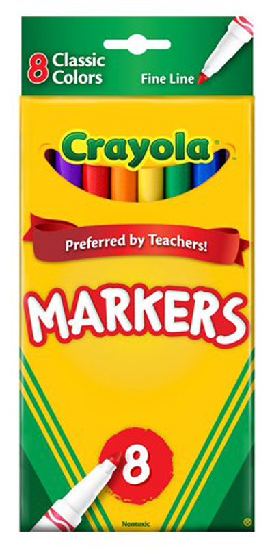 Crayola Fine Line Markers Classic 8 Count
