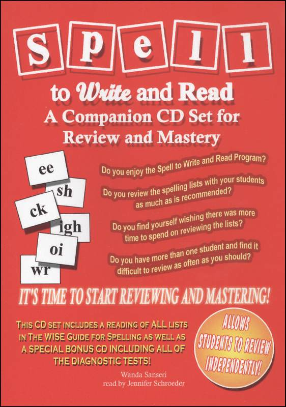 Spell to Write and Read Companion 6 CD Set
