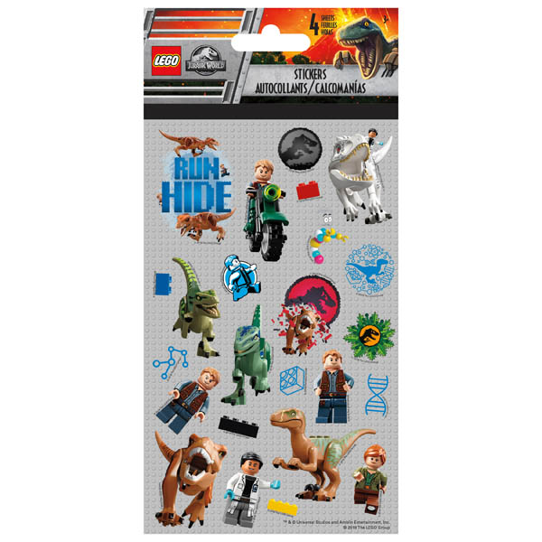 Lego Jurassic World Standard Stickers (4 Sheet)