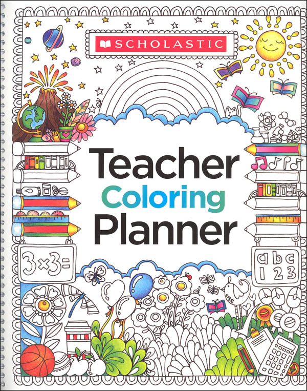 This is a graphic of Sizzling Teacher Coloring Planner