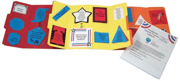 Presidential Election Process for Grades K-5 Lapbook Assembled