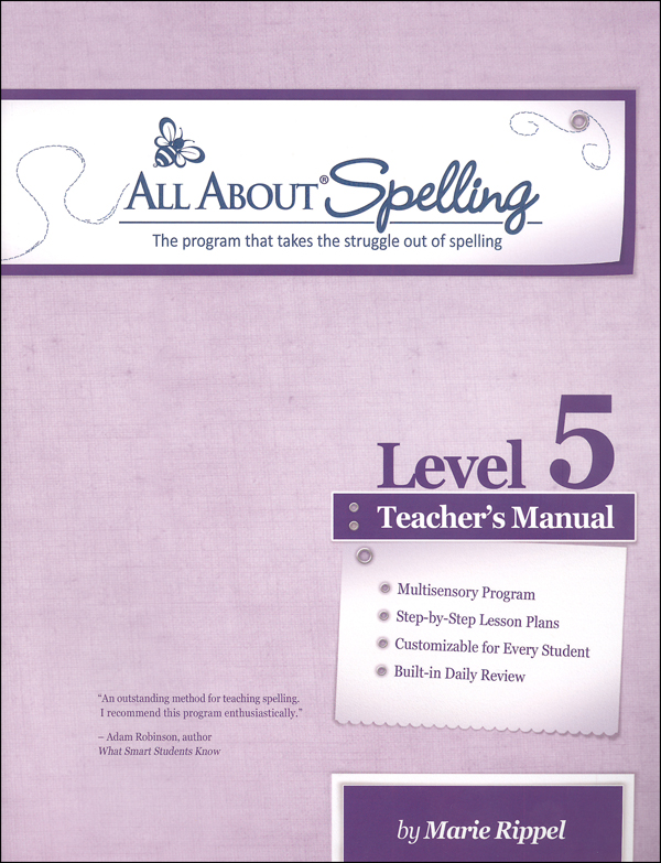All About Spelling Level 5 Teacher's Manual