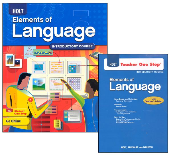 Holt Elements of Language Homeschool Package Grade 6 (Introductory Course)