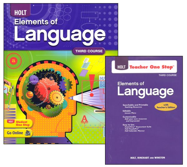 Holt Elements of Language Homeschool Package Grade 9 (Third Course)