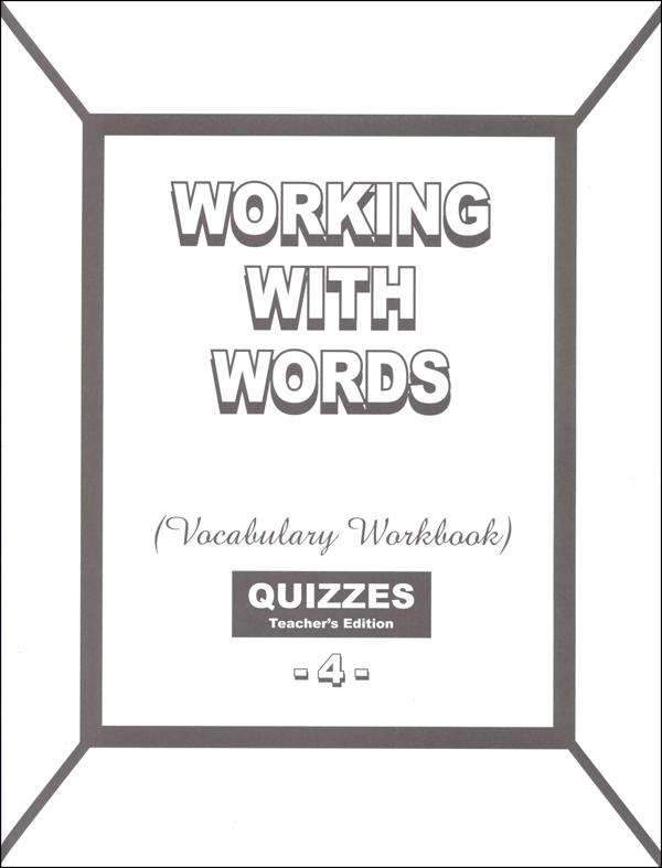 Working with Words 4 Quizzes Answer Key