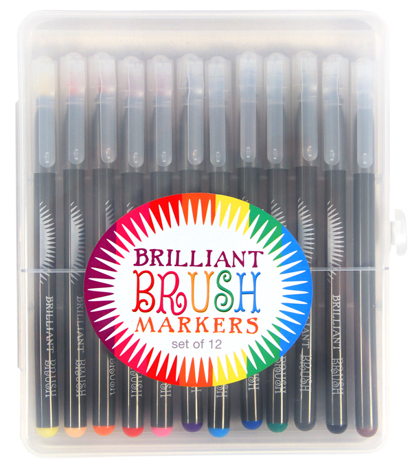 Brilliant Brush Markers 12-pack