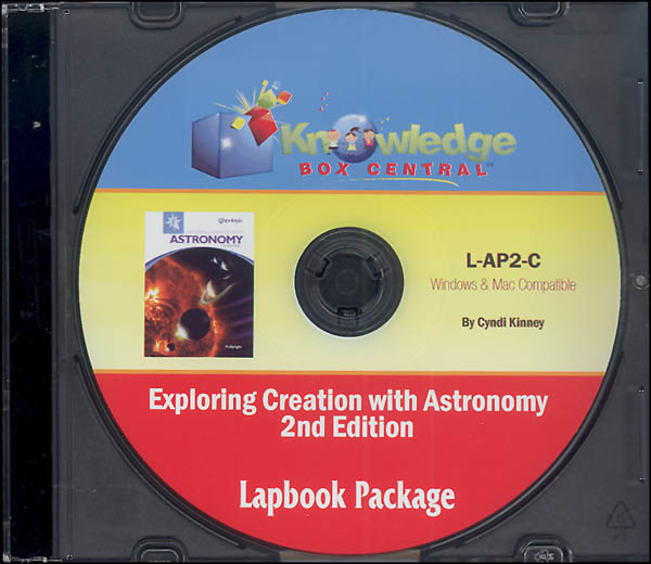 Apologia Exploring Creation with Astronomy 2nd Edition Lapbook CD