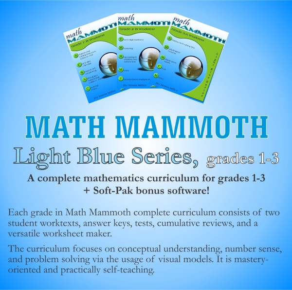 Math Mammoth Light Blue Series Grades 1-3 CD